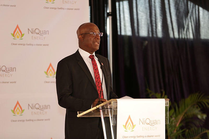 The Honourable Prime Minister Dr Keith Rowley opens the plant